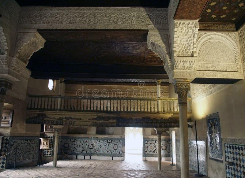 Modelli islamici sul soffitto di Alhambra fotografie stock libere da diritti
