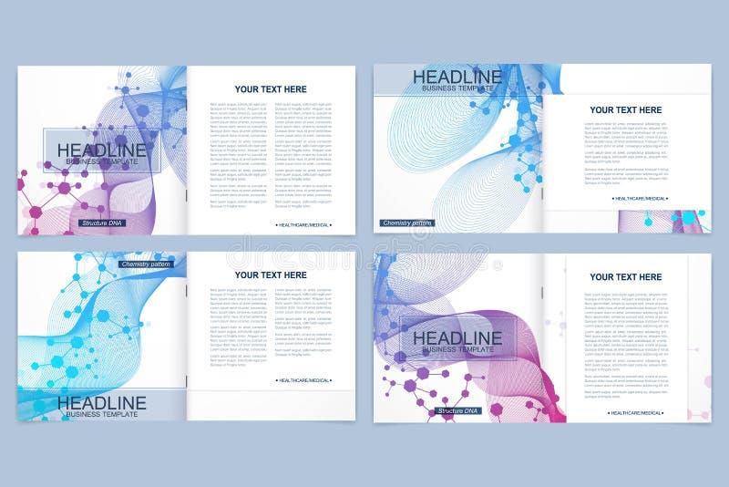 Modelli minimi moderni di progettazione della copertura della disposizione di vettore per l'opuscolo o l'aletta di filatoio quadr royalty illustrazione gratis