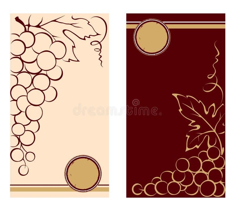 Modelli Per Le Etichette Del Vino Illustrazione Vettoriale