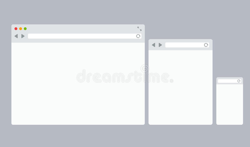 Modelli piani del browser di vettore