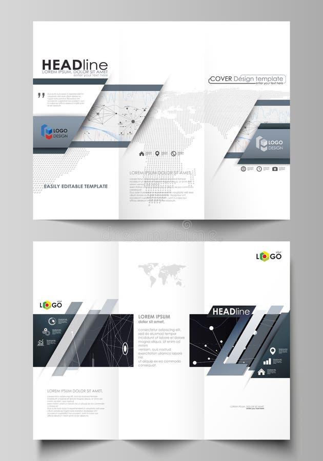 Modelli ripiegabili di affari dell'opuscolo Disposizione editabile facile di vettore Fondo infographic di progettazione astratta  royalty illustrazione gratis