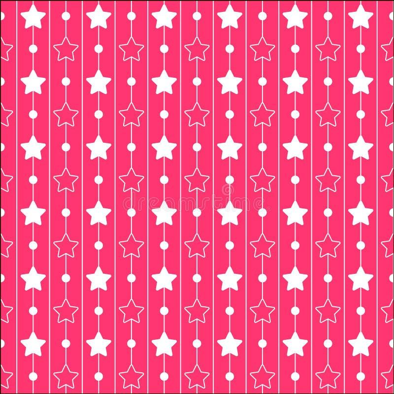 Modelli rosa con lo stelle e strisce Serie di principessa fotografia stock libera da diritti