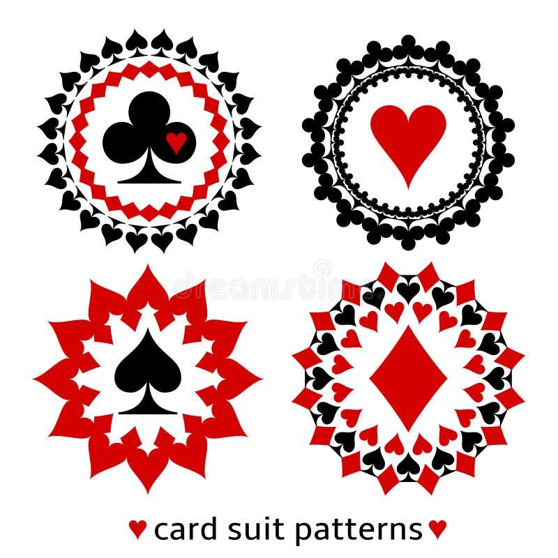 Modelli rotondi del vestito piacevole della carta royalty illustrazione gratis