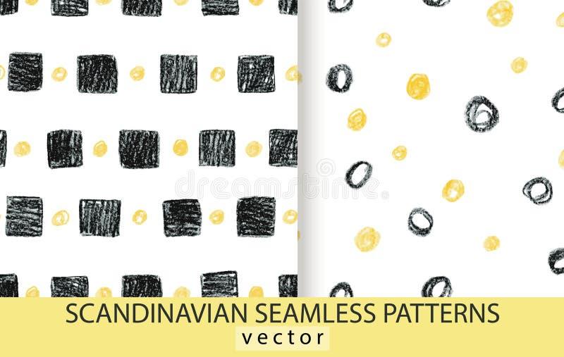 Modelli scandinavi astratti determinati illustrazione di stock