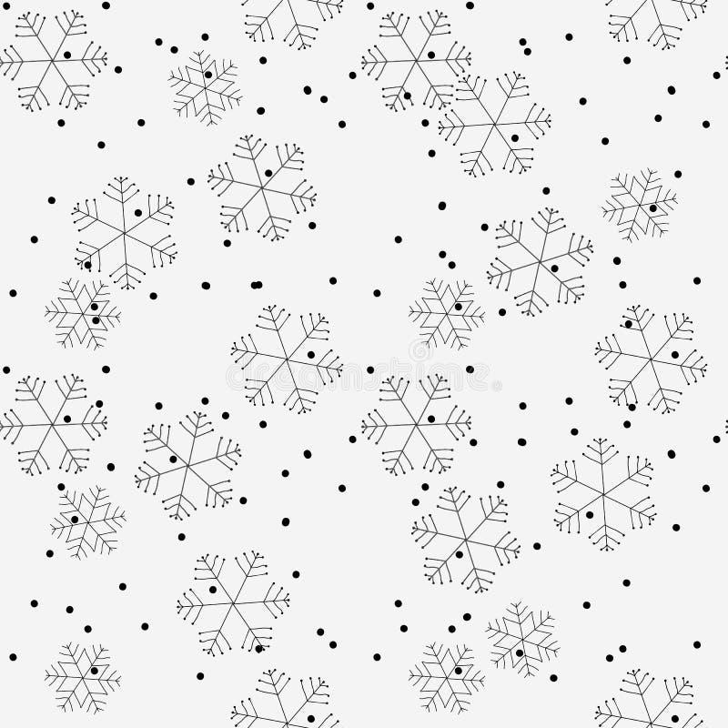 Modelli senza cuciture di inverno disegnato a mano Natale di scarabocchio, Noel, contesto del nuovo anno Fondo decorativo per tes royalty illustrazione gratis