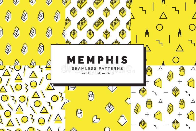 Modelli senza cuciture di Memphis determinati royalty illustrazione gratis