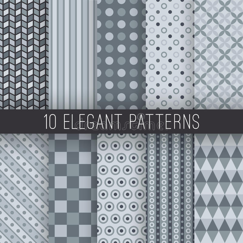 Modelli senza cuciture eleganti grigi Vettore illustrazione di stock