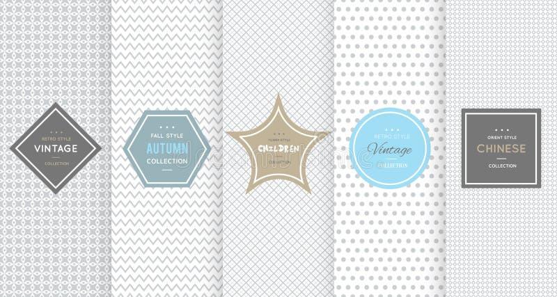 Modelli senza cuciture grigio chiaro per fondo universale royalty illustrazione gratis