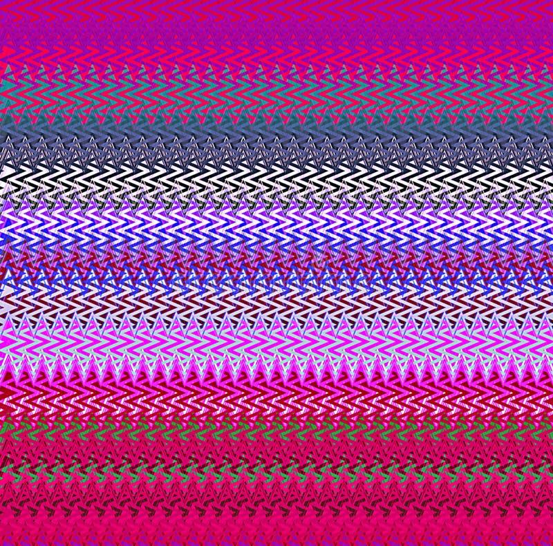 Modelli triangolari ondulati caotici della pittura dello spruzzo dell'estratto della pittura di Digital nel fondo di colori paste immagine stock libera da diritti