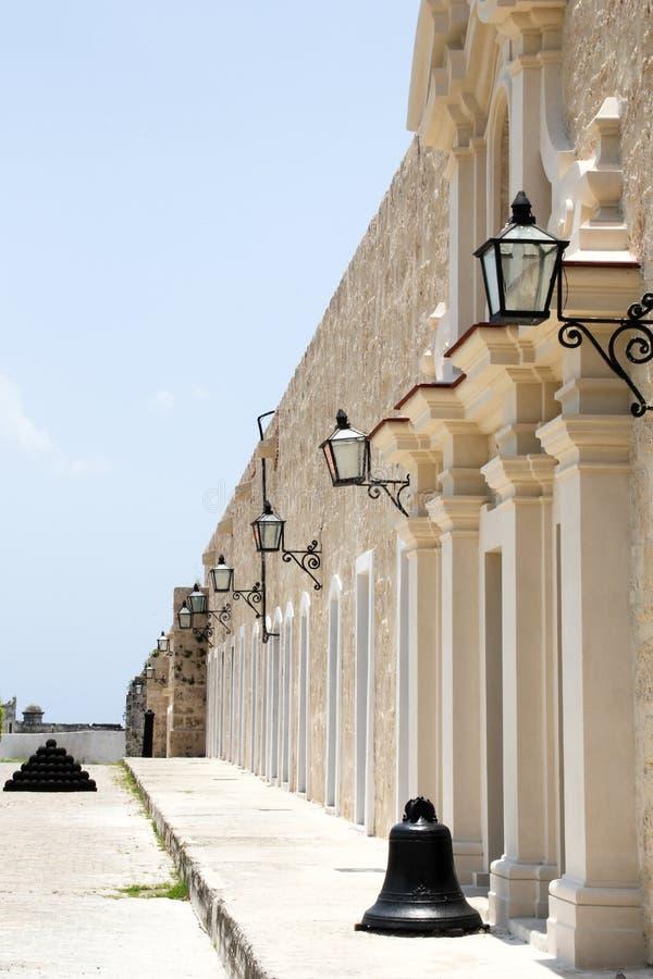 Modelli visivi della fortificazione di Avana fotografia stock