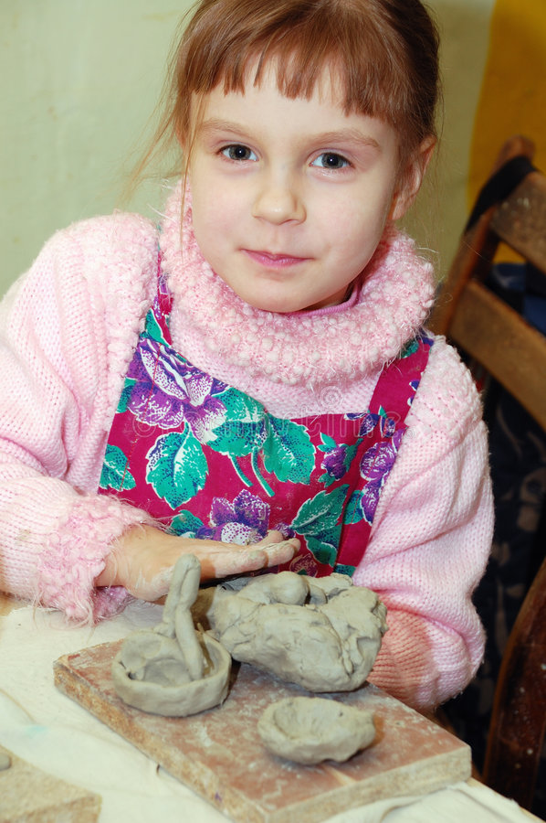 Modelling With Clay stock image