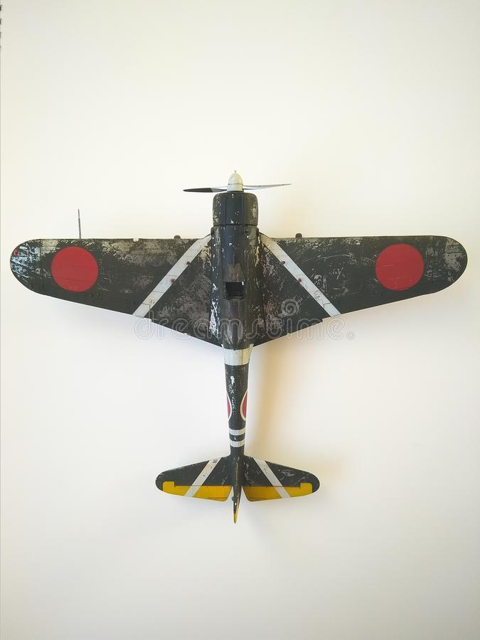 Modellkämpfer Nakajima Ki-43 Hayabusa stockfotografie