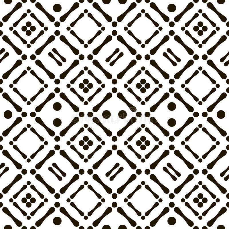 Modello aborigeno in bianco e nero senza cuciture astratto royalty illustrazione gratis