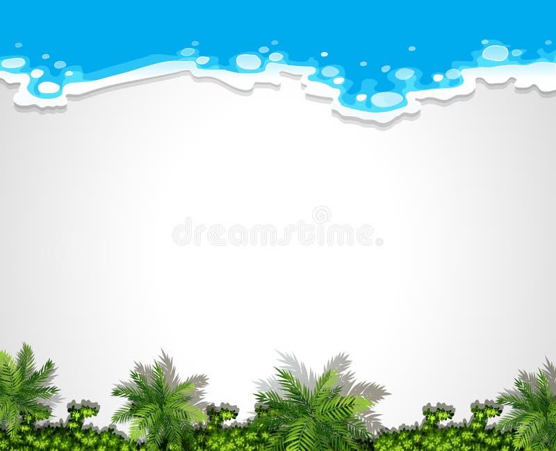 Modello aereo in bianco del fondo della spiaggia illustrazione vettoriale