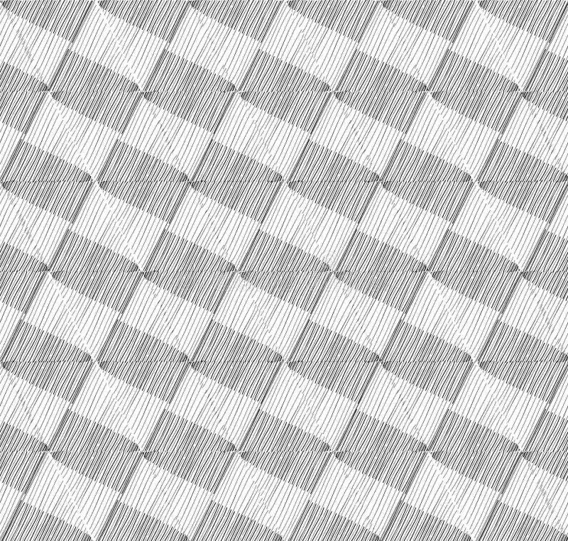 Modello allineato geometrico senza cuciture Priorità bassa strutturata astratta illustrazione vettoriale