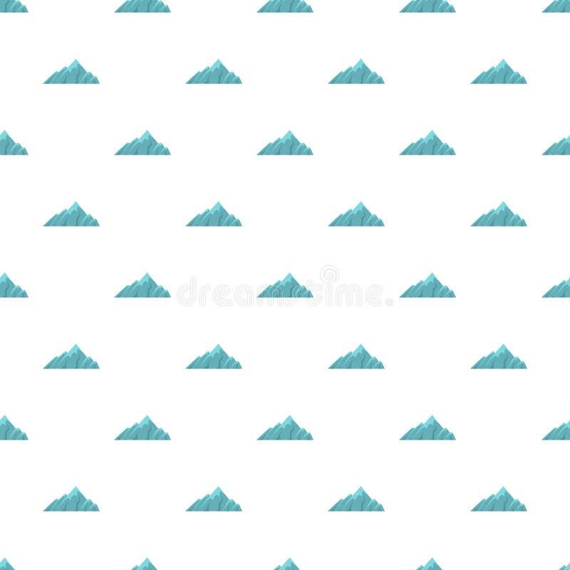 Modello alpino della montagna senza cuciture illustrazione vettoriale