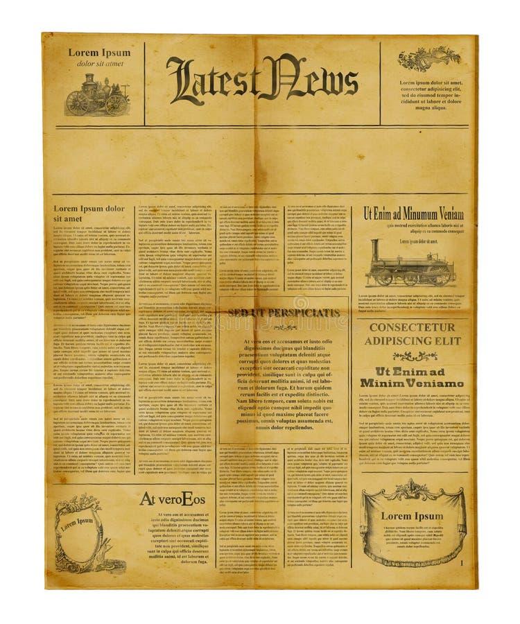 Modello antico del giornale immagine stock