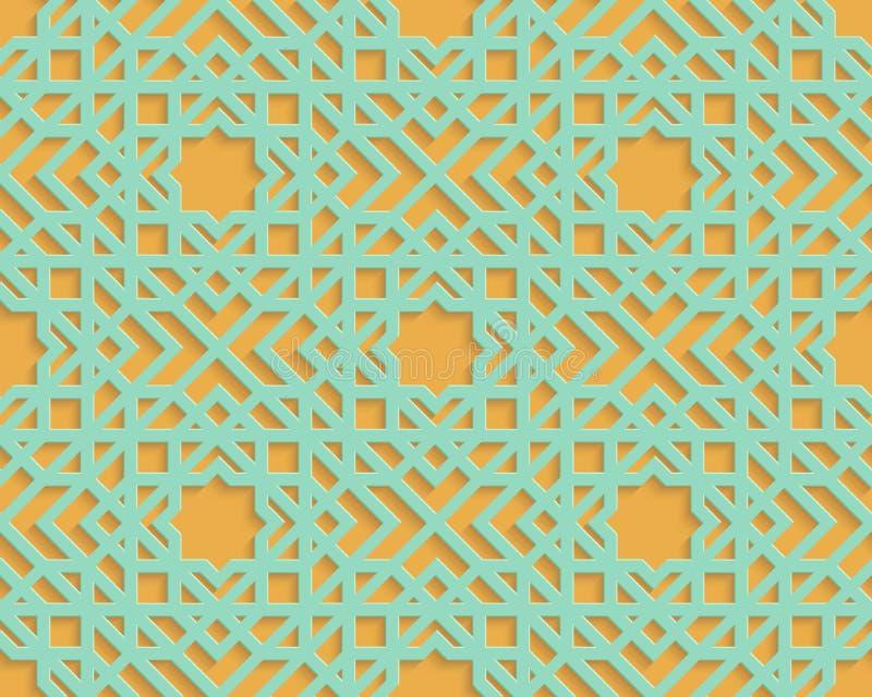 Modello arabo blu senza cuciture royalty illustrazione gratis