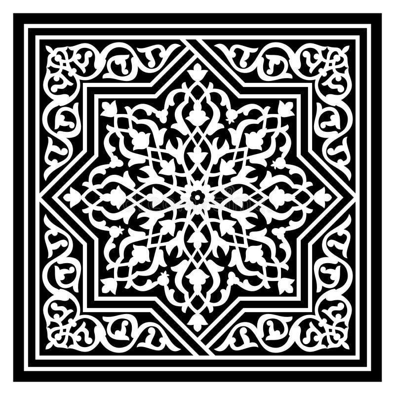 Modello arabo floreale illustrazione vettoriale
