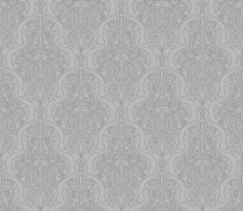 Modello arabo senza cuciture astratto illustrazione vettoriale