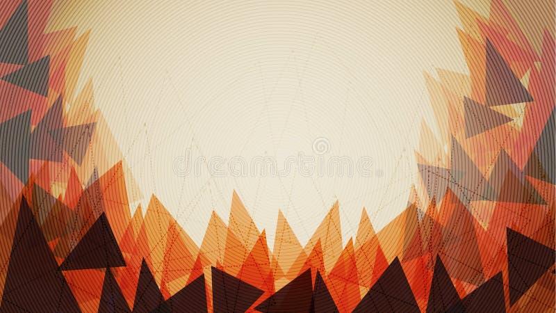 Modello arancio del fondo del triangolo - illustrazione di vettore illustrazione vettoriale