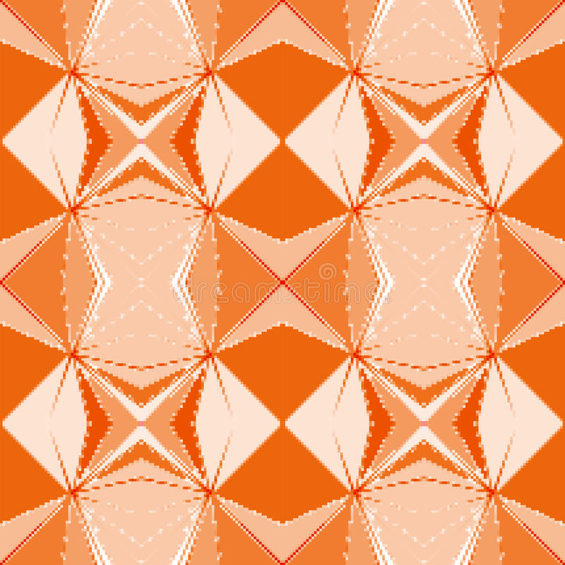 Modello arancio geometrico pixelated senza cuciture fotografie stock