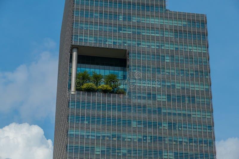 Modello architettonico sul grattacielo moderno immagini stock libere da diritti