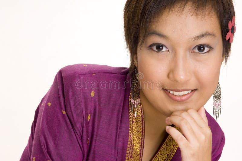 Modello asiatico 7 immagine stock