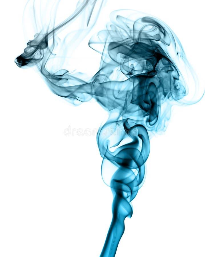 Modello astratto blu del fumo su bianco fotografia stock