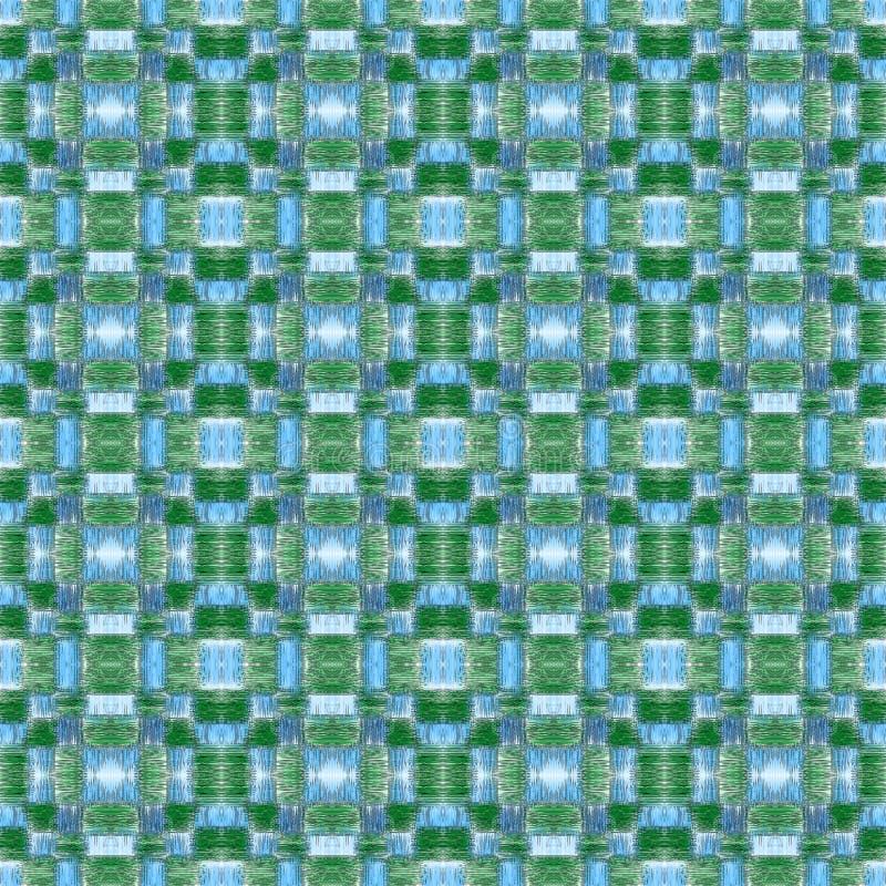 Modello astratto blu e verde della rappezzatura fotografie stock