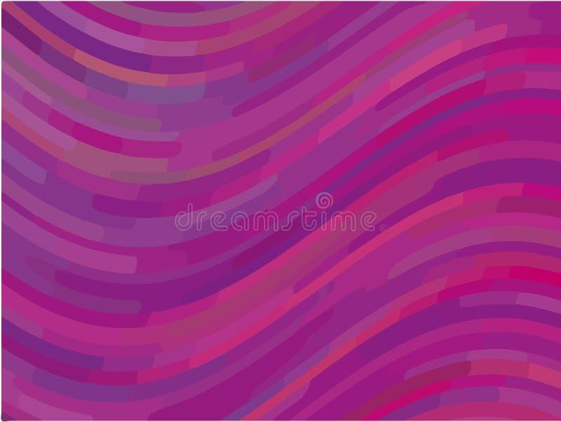 Modello astratto con le linee dell'onda Progettazione minima priorità bassa Blu-viola Illustrazione di vettore illustrazione vettoriale
