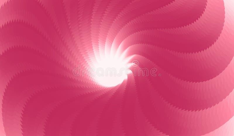 Modello astratto concentrico creato da elementi ripetitivi Illustrazione vettoriale 3d illustrazione di stock