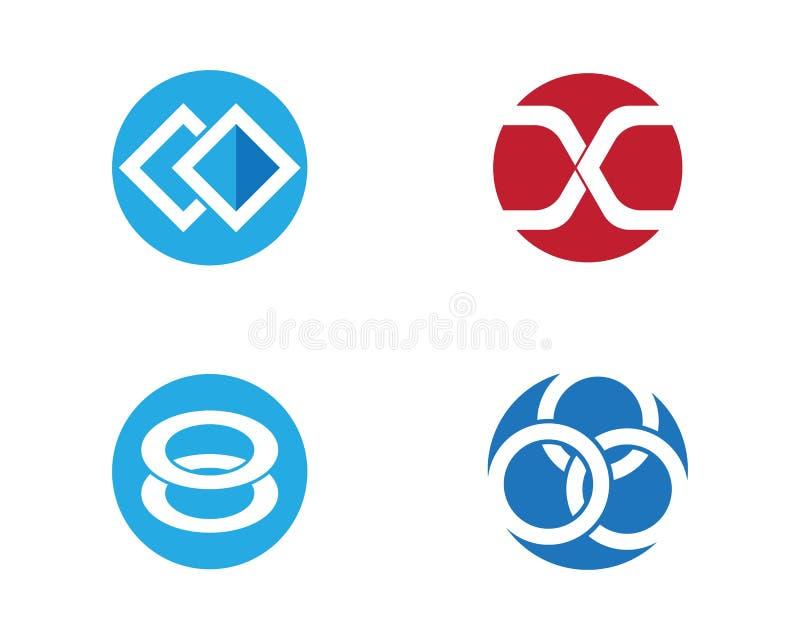 Modello astratto corporativo di progettazione di logo di vettore di unità di affari illustrazione vettoriale