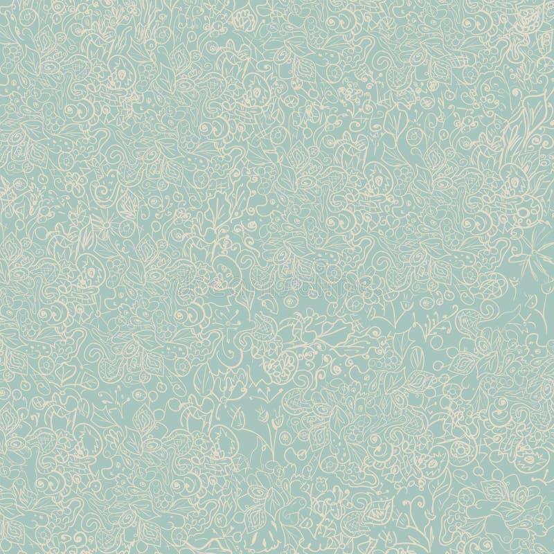 Modello astratto dei fiori semplici dipinti a mano svegli per il tessuto, tele, vestiti illustrazione di stock