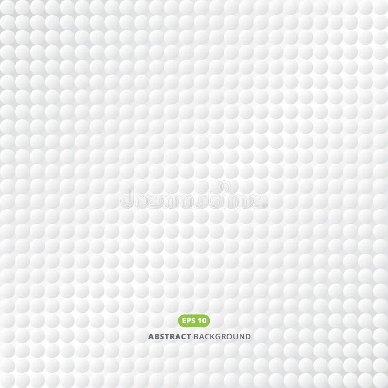 Modello astratto del cerchio della banda 3d del fondo che ripete pendenza royalty illustrazione gratis