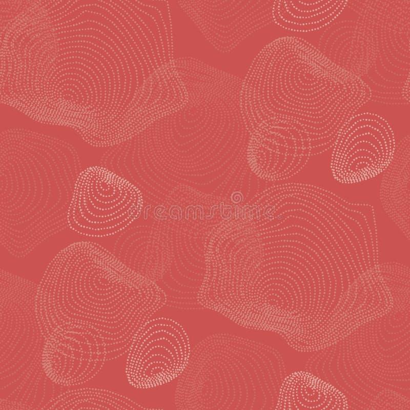 Modello astratto del fondo di colore orale di rosa del ¡ di Ð illustrazione di stock