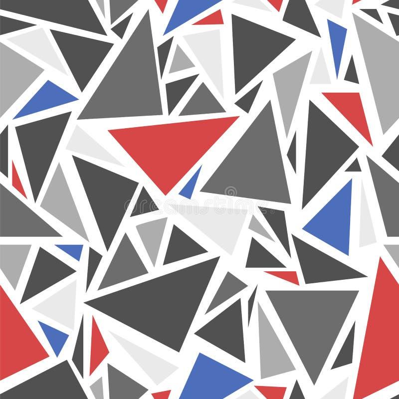 Modello astratto del triangolo illustrazione di stock
