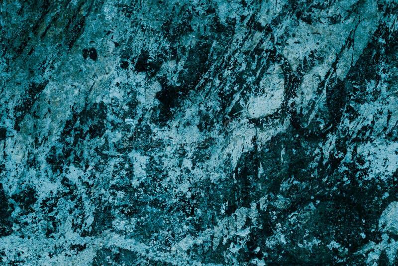 Modello astratto del turchese della lastra del granito Fondo nero e blu della pittura Struttura di marmo della parete del turches fotografia stock