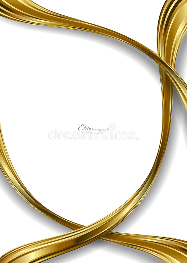 Modello astratto della priorità bassa dell'oro illustrazione di stock