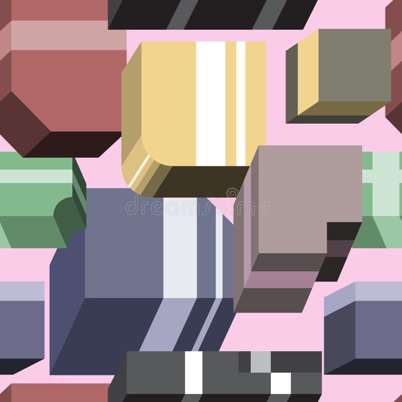 Modello astratto delle forme geometriche tridimensionali for Immagini tridimensionali gratis