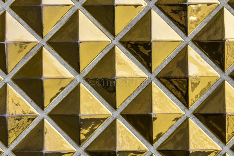 Modello astratto delle mattonelle dell'oro - Art Deco Abstract Gold Pattern con immagine stock