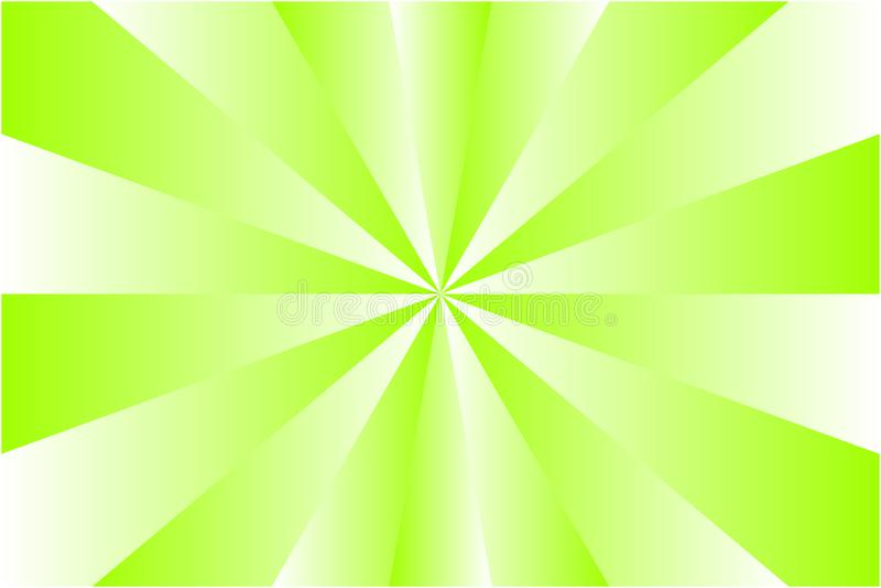 Modello astratto dello sprazzo di sole, raggi colorati bianchi e verde chiaro di pendenza Vector l'illustrazione, EPS10 Reticolo  illustrazione vettoriale