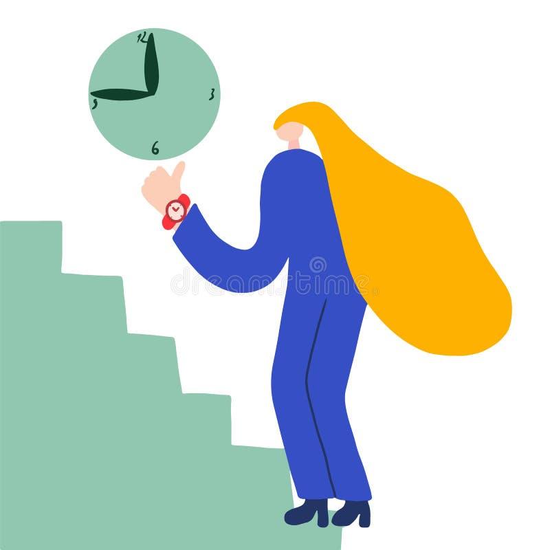 Modello astratto di affari Icona dell'orologio - simbolo dell'orologio - icona di tempo Sviluppo di Web site Modello dell'illustr illustrazione di stock