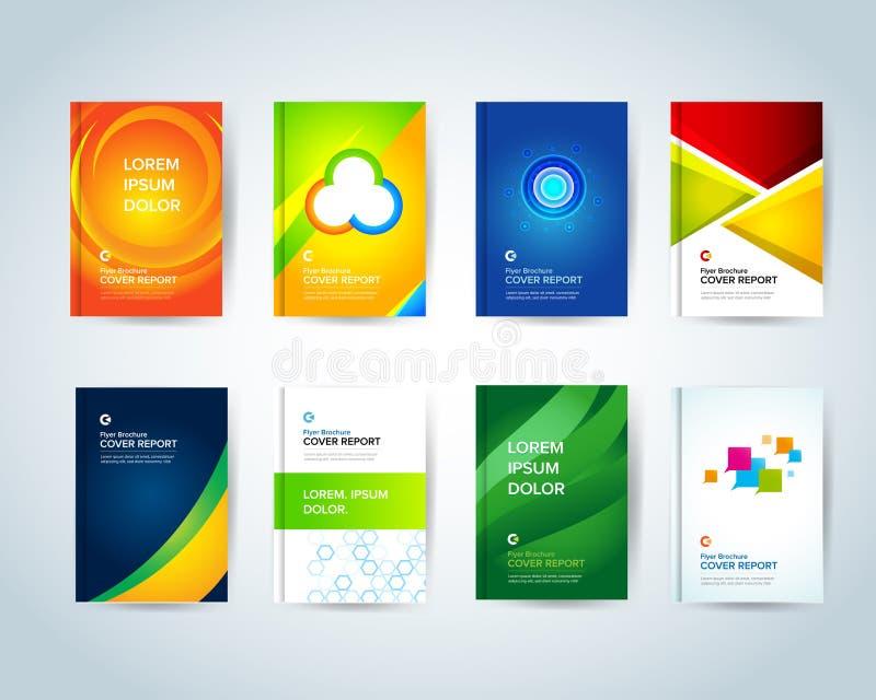 Modello astratto di affari La progettazione dell'opuscolo, tratta la disposizione moderna, il rapporto annuale, il manifesto, ale illustrazione di stock