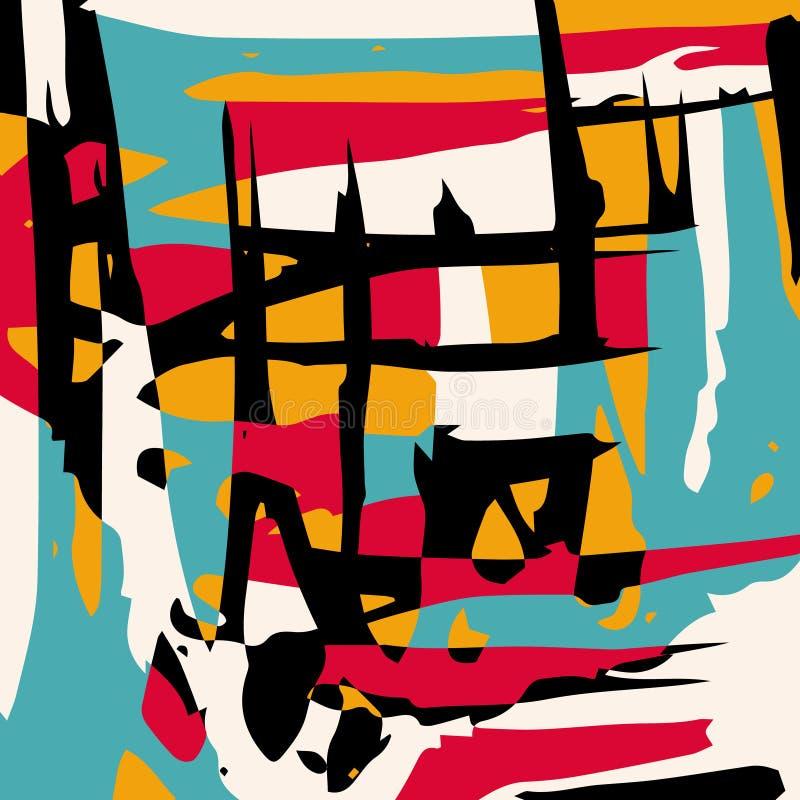 Modello astratto di colore nello stile dei graffiti illustrazione di vettore di qualità per la vostra progettazione illustrazione di stock