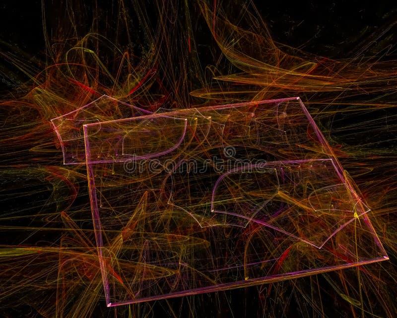 Modello astratto di concetto del materiale illustrativo di Digital, fantasia futuristica di progettazione della carta da parati immagine stock libera da diritti