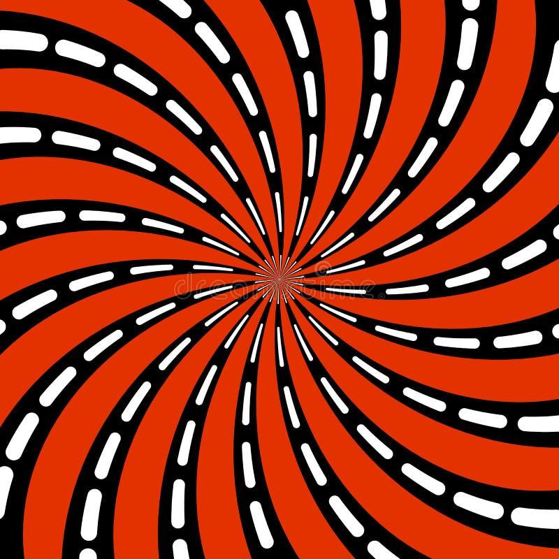 Modello astratto di forma psichedelica a spirale stilizzata Vettore piano illustrazione vettoriale
