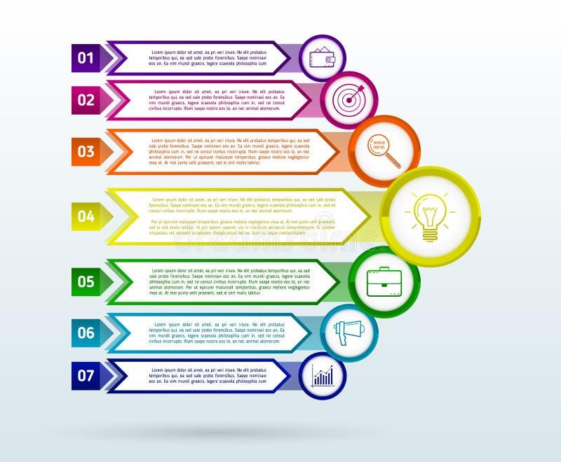 Modello astratto di infographics con le frecce Elementi piani di progettazione royalty illustrazione gratis