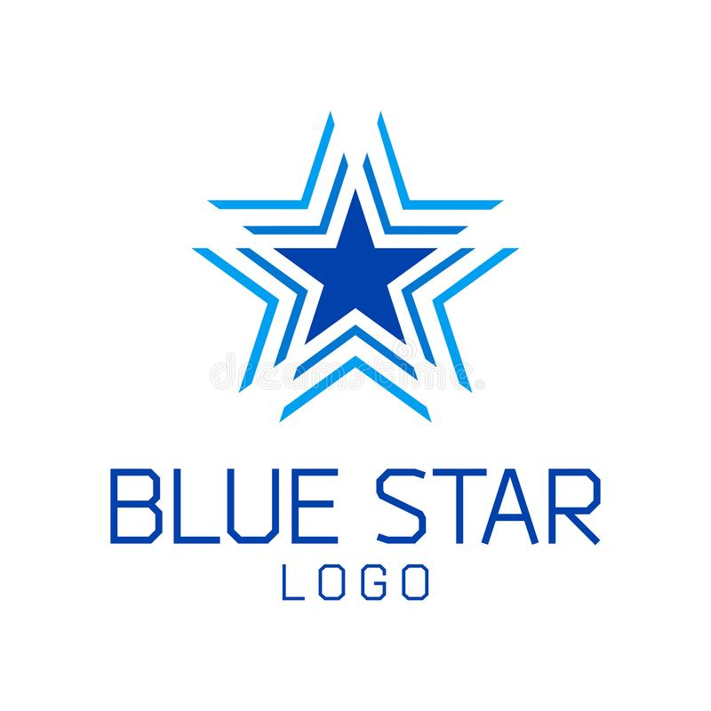 Modello astratto di logo di vettore della stella immagine stock