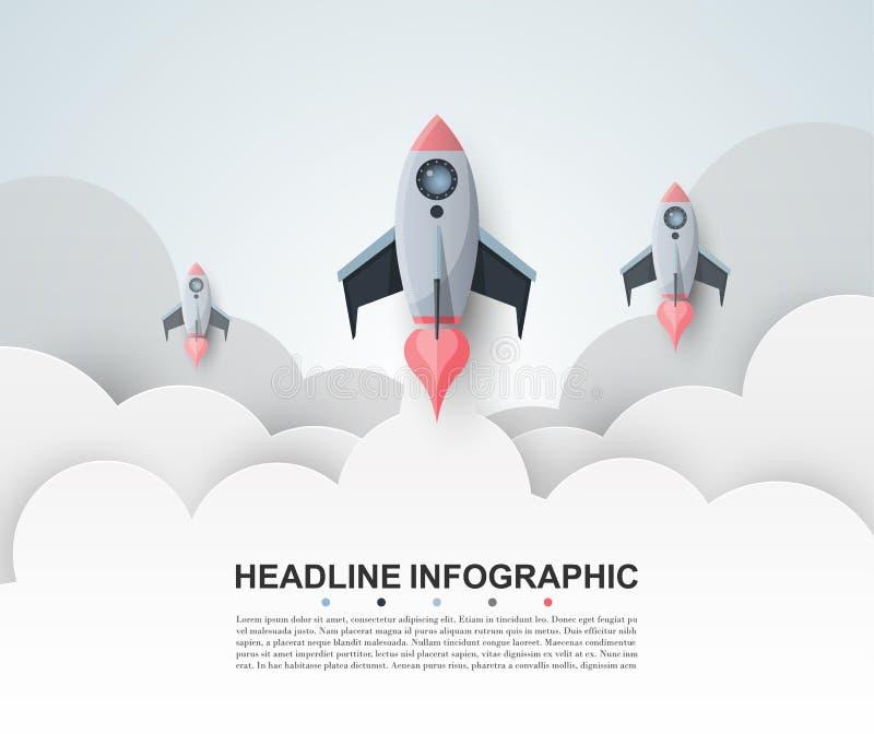 Modello astratto di opzioni di numero di infographics Illustrati di vettore illustrazione di stock